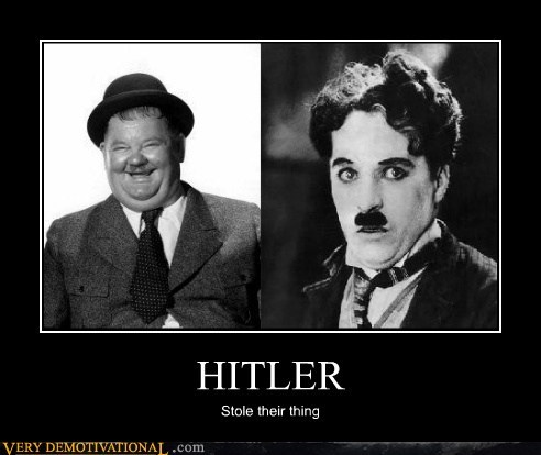 charlie chaplin hilarious hitler mustache Oliver Hardy - 5585258496