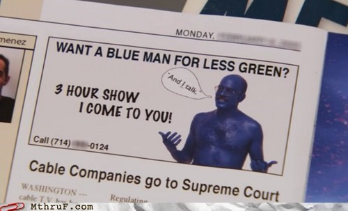 arrested development,Blue Man Group,tobias fünke