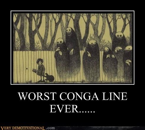 Conga line,guitar,hilarious