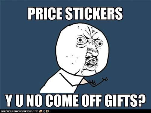 gifts price stickers Y U No Guy - 5585565440