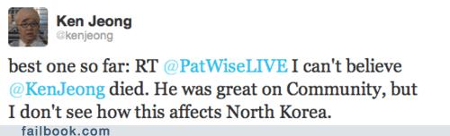 dead Death facepalm jokes ken jeong Kim Jong-Il lil kim news twitter