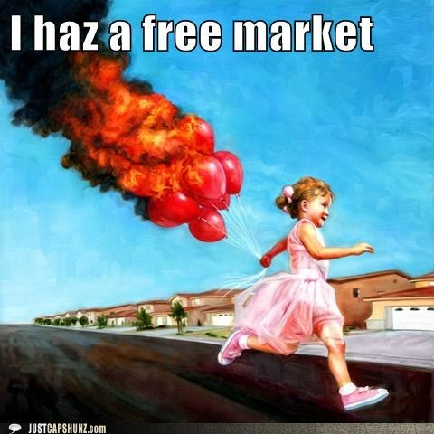 ballons balloons on fire caption contest child girl kid - 5585971456