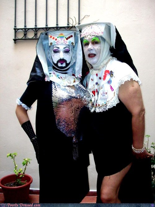 creepy nuns makeup not quite nuns Whiteface - 5586144512