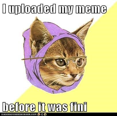 Cats,finished,Hipster Kitty,hipsters,Memes,uploaded