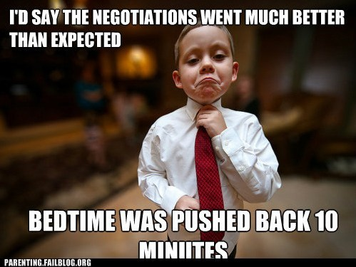 bedtime business Hall of Fame meme monday through friday negotiations Parenting Fail - 5586224384