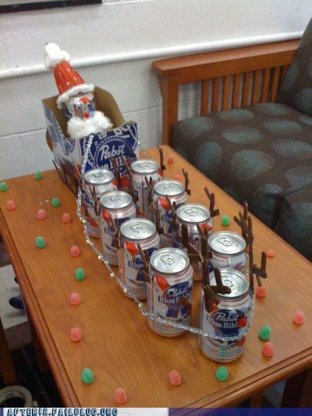 after 12 beer christmas g rated Hall of Fame pbr reindeer santa clause sleigh - 5586251520