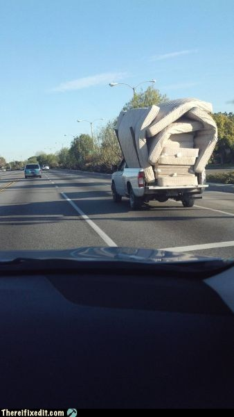 cars matress moving day truck
