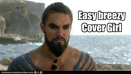 a song of ice and fire cover girl Game of Thrones Jason Momoa Khal Drogo mascara - 5586315264
