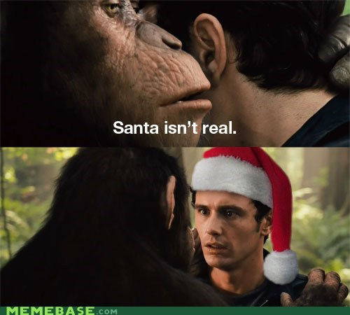 Memes Planet of the Apes real santa - 5586403072