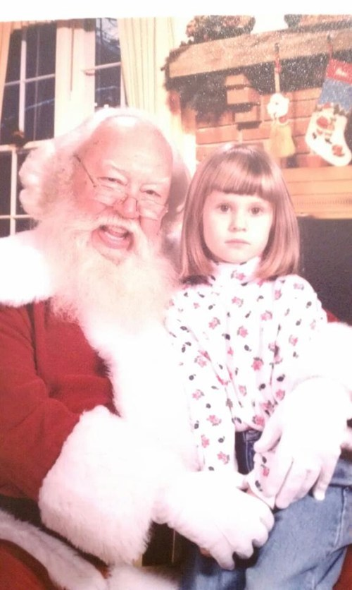 creepy,happy,mall,no touching,retro,santa,smile