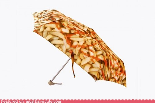 chips fries ketchup print snack umbrella - 5586610688