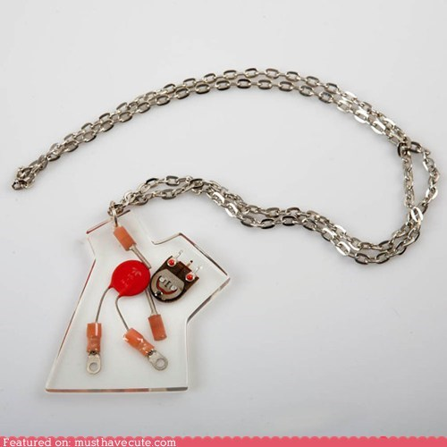 accessories chain electronics Jewelry necklace parts pendant robot - 5586707456