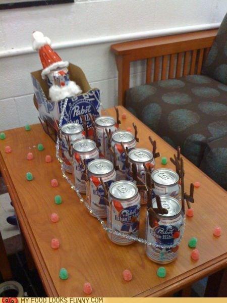 beer,pbr,reindeer,santa,sleigh