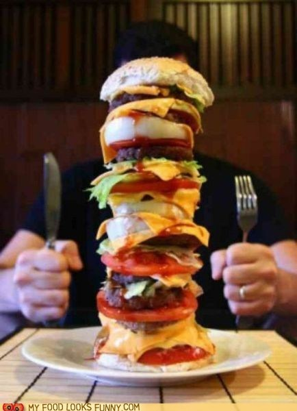 burger giant huge meal tower - 5586907392