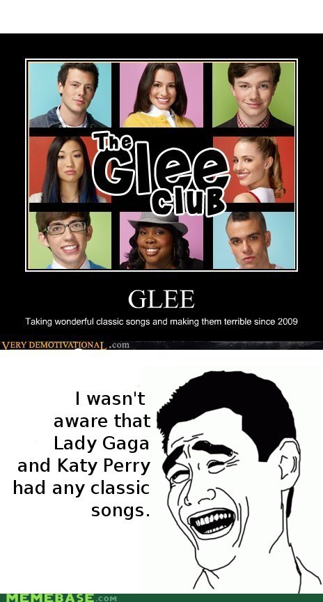glee,Music,Rage Comics,Reframe