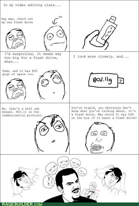 dumb flash drive Rage Comics technologically impaired USB wifi - 5586982144