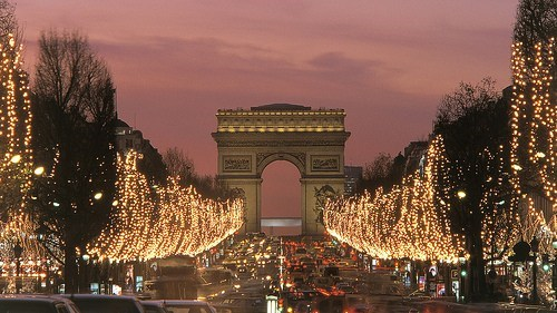 Champs Elysées,christmas,christmas light,europe,france,getaways,paris
