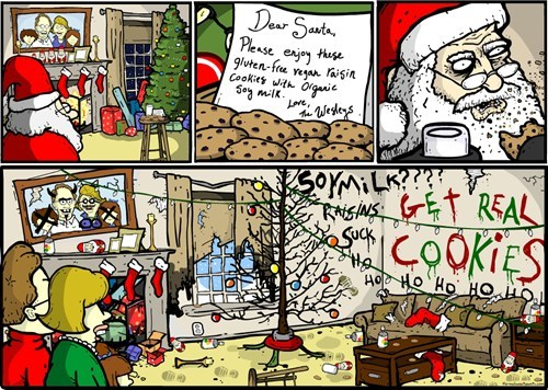 angry comic comic-angry cookies g rated Hall of Fame hippies hipster rage santa sketchy santas treats vegan