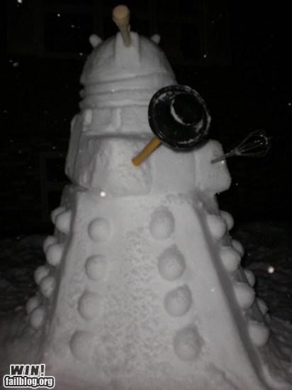 dalek doctor who nerdgasm snow snowman - 5587026176