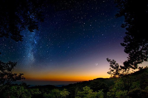 awesome,cyprus,europe,getaways,greece,Hall of Fame,milky way,moon,stars,sunset