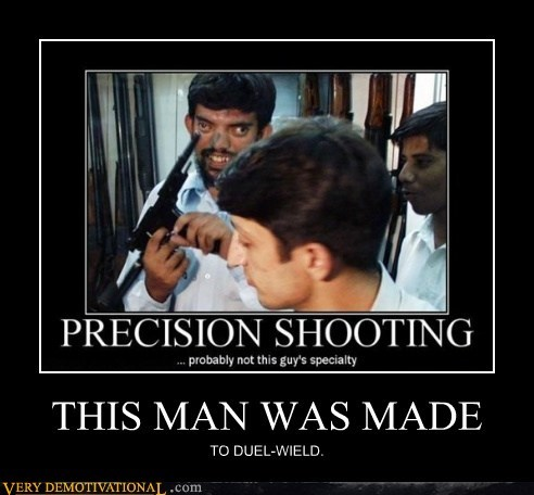 duel-wield guns hilarious lazy eye