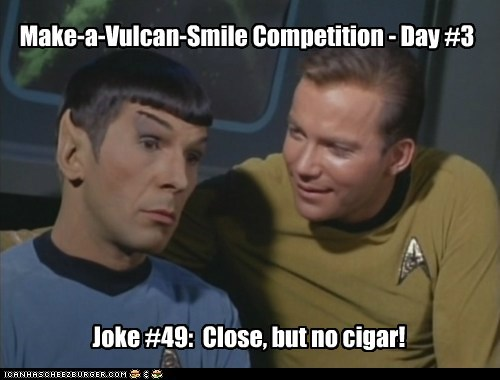 emotion Leonard Nimoy logic Shatnerday smile Star Trek Vulcan