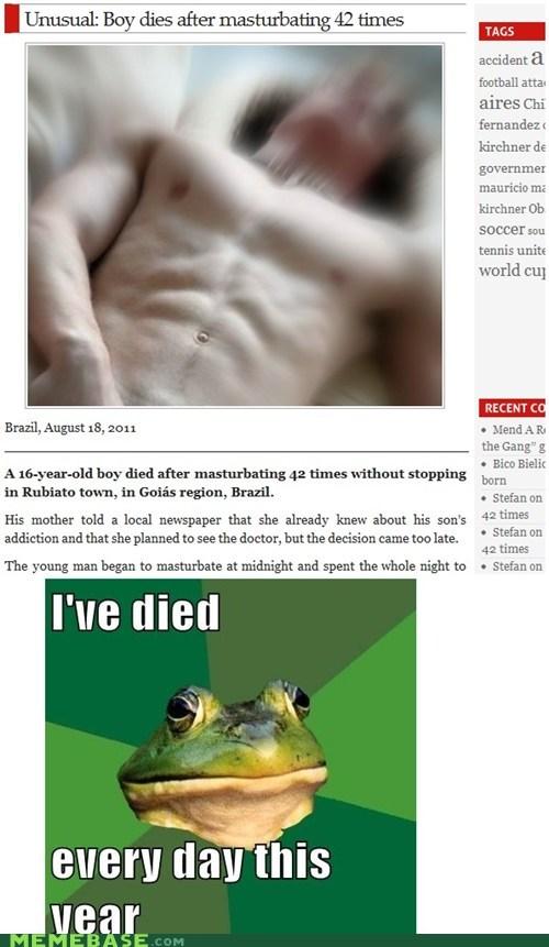 Death foul bachelor frog masturbation - 5587423744