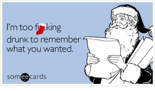 drinking e card holidays presents santa sarcasm