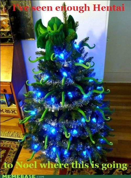 christmas,chthulu,ive-seen-enough-japanese-entertainment,noel,pine,tree
