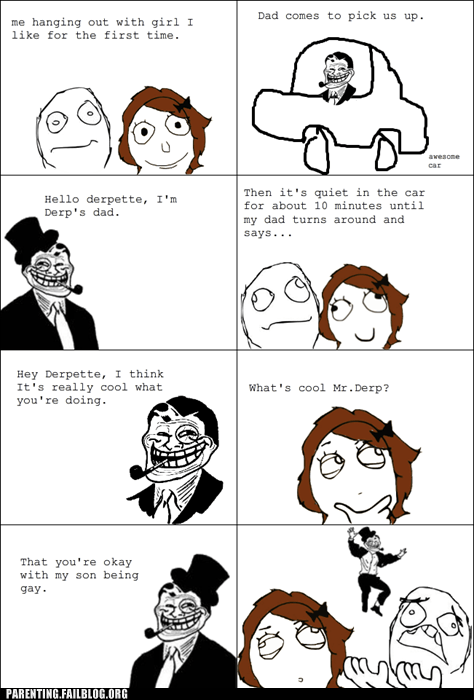 dad dating girlfriend Parenting Fail rage comic relationships troll dad