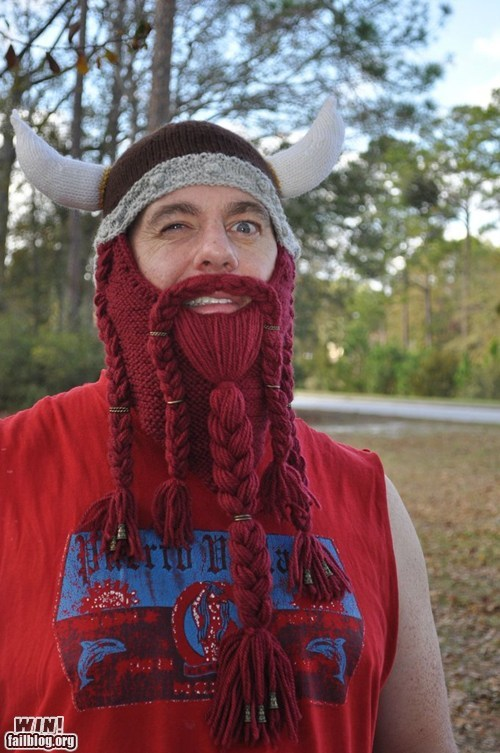 beard cap helmet knit viking - 5587739904
