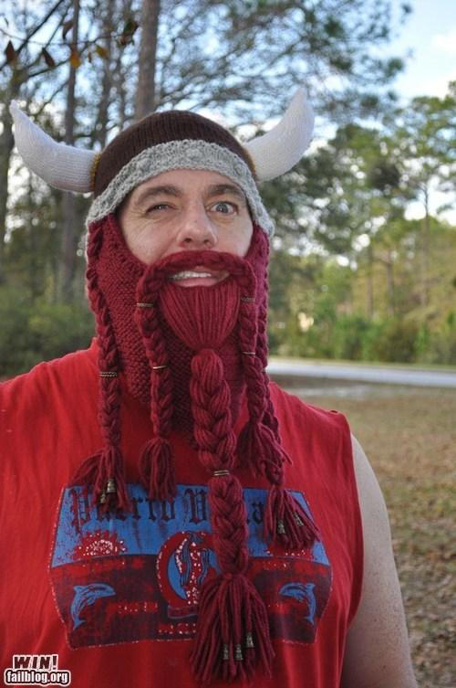 beard cap helmet knit viking - 5587739904