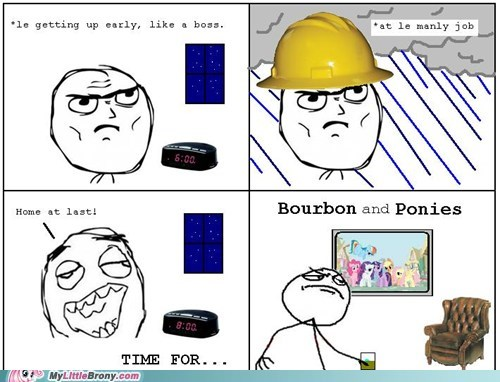 best of week,bourbon,comics,pastime,ponies,rage comic,time for ponies,work