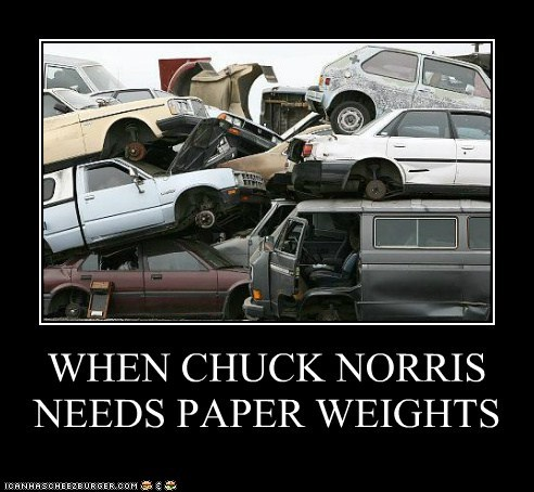 cars chuck norris junk cars junk yard paper weight paper weights - 5588246272