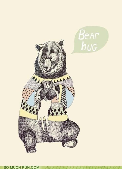 bear,bear hug,double meaning,hug,hugging,literalism,lolwut