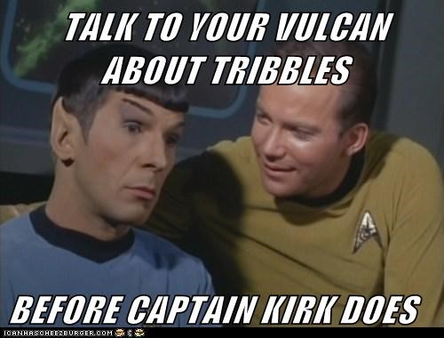 Captain Kirk Leonard Nimoy Shatnerday Spock Star Trek talk to your kids tribbles Vulcan William Shatner - 5588470272