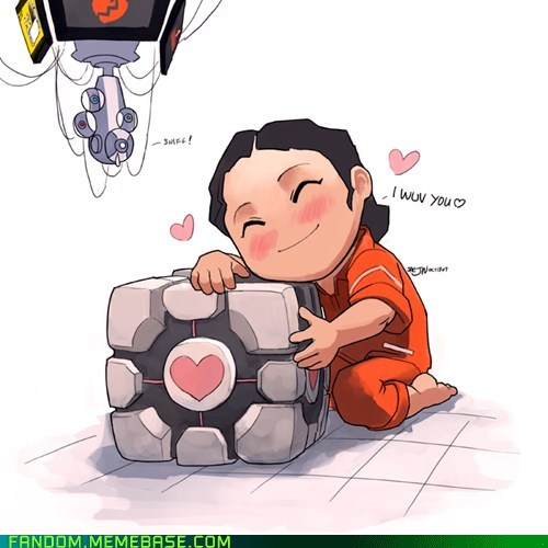 companion cube Fan Art Portal video games - 5589250304