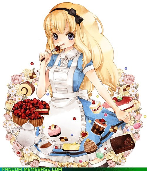 alice in wonderland anime style dessert Fan Art - 5589252864