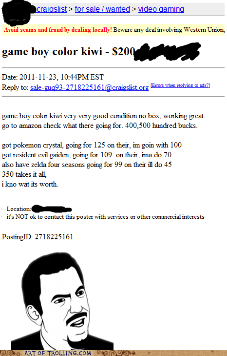 craigslist game boy grammar shoppers beware - 5589740800