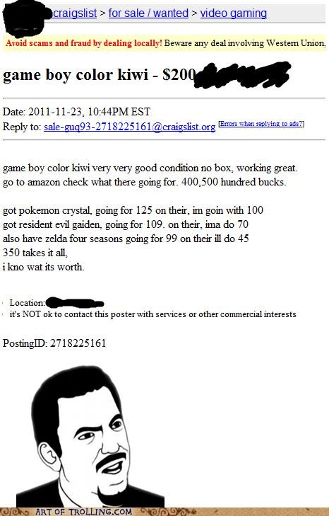 craigslist game boy grammar shoppers beware - 5589740800