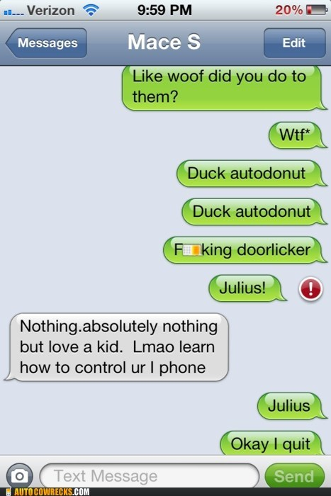 auto correct autodonut doorlicker duck Hall of Fame julius woof wtf - 5590012672