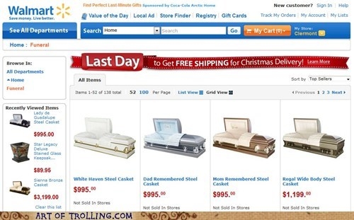 christmas coffin Sad shoppers beware - 5590105600