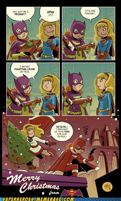 Awesome Art,batgirl,best of week,christmas,supergirl