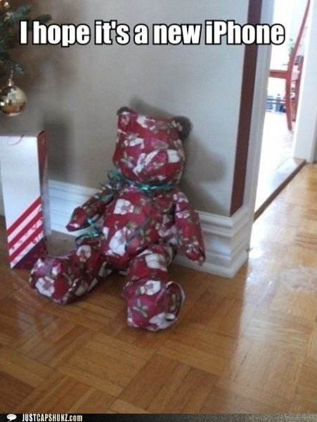 christmas christmas presents iphone teddy bear - 5590184704
