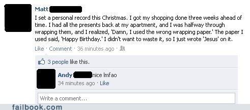 birthday christmas facebook failbook g rated social media win - 5590411264