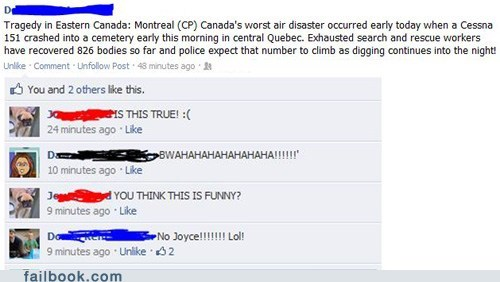 cemetery,joke,oh canada,over their head,plane crash,puns