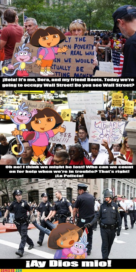 dora Occupy Wall Street Pepper Spray Cop the internets the police