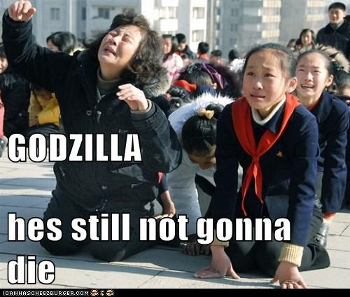 cry,godzilla,North Korea,political pictures