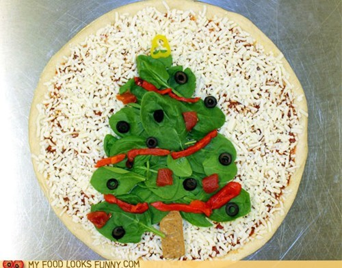 cheese,christmas,dominos,festive,pizza,spinach,tree
