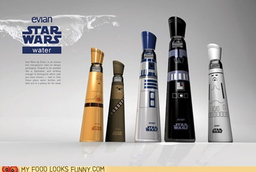 best of the week bottles branded evian star wars water - 5591077120